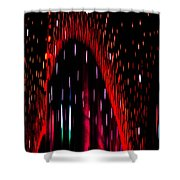 Particulated Arch Shower Curtain