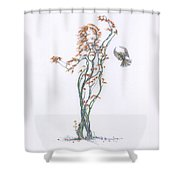 Partners In The Dance Re-imagined Shower Curtain