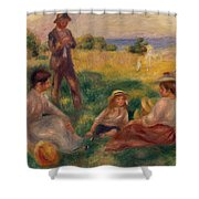 Party In The Country At Berneval Shower Curtain