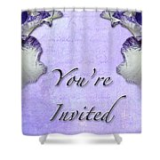 Party Invitation - General - Wild Iris - Blue Flag Shower Curtain