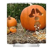 Party Pumpkin Shower Curtain