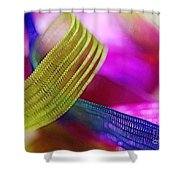 Party Ribbons Shower Curtain by Judi Bagwell