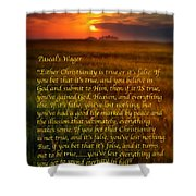 Pascal's Wager Shower Curtain