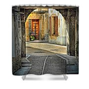 Passageway And Arch In Provence Shower Curtain