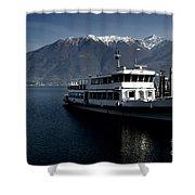 Passenger Ship On The Lake Shower Curtain