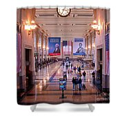 Passengers And Flags Shower Curtain