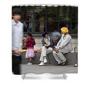 Passing Conversation Shower Curtain