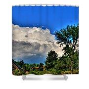 Passing Fantasy Island 55mph  Shower Curtain