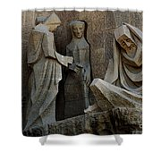 Passion Facade Barcelona Spain Shower Curtain
