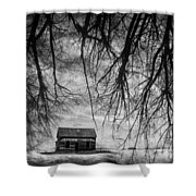 Past The Woods Shower Curtain