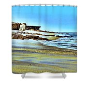Pastel Beach Shower Curtain