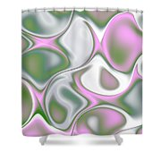 Pastel Colored Teardrop Fractal Shower Curtain