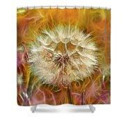 Pastel Dandelion Flare Shower Curtain