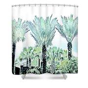 Pastel Palms Shower Curtain