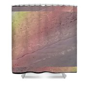Pastel Topographic 1 Shower Curtain