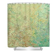 Pastle Green Stone Shower Curtain