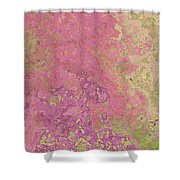 Pastle Pink Stone Shower Curtain