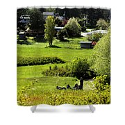 Pastoral Ease Shower Curtain