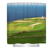 Pastures And Lighthouse Shower Curtain