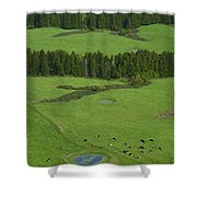 Pastures In Azores Islands Shower Curtain