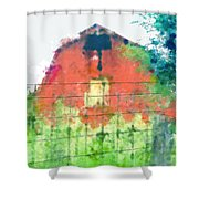 Patched Up  Art Shower Curtain