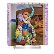 Patchwork Elephant Shower Curtain