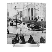 Patent Office During Presidential Inauguration - Washington Dc - C 1889 Shower Curtain