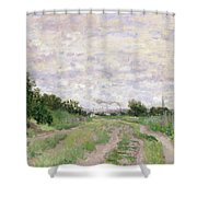 Path Through The Vines At Argenteuil Shower Curtain