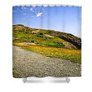 Path To Cabot Tower On Signal Hill Shower Curtain by Elena Elisseeva