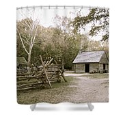 Path To Log Cabin Shower Curtain
