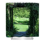 Path To The Green Shower Curtain