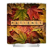 Patience-autumn Shower Curtain