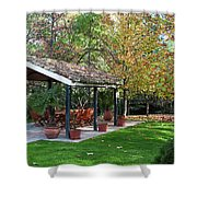Patio Dining Madrid Shower Curtain