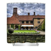Patio Restaurant At Cecilienhof Palace Shower Curtain
