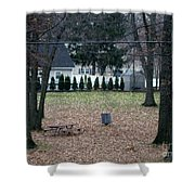 Patio View Of An Autumn Day Shower Curtain