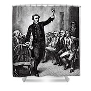 Patrick Henry, American Patriot Shower Curtain by Photo Researchers