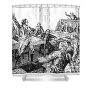 Patrick Henry, Virginia Legislature Shower Curtain by Photo Researchers