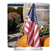 Patriotic Farm Stand Shower Curtain