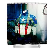 Patriotic Outfit Shower Curtain