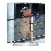 Patriotic Pig Shower Curtain