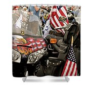 Patriotism Rides Shower Curtain