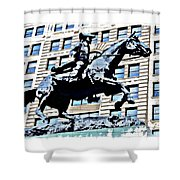 Paul Revere Galloping Statue Shower Curtain