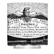 Paul Revere: Trade Card Shower Curtain