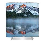 Paulina Lake Reflections Shower Curtain