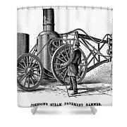 Paving Machine, 1879 Shower Curtain