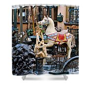 Pawn Shop In San Miguel Mexico 1991 Shower Curtain