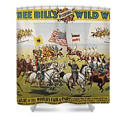 Pawnee Bill Poster, 1895 Shower Curtain