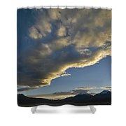 Payachatas Mountains. Republic Of Bolivia.  Shower Curtain