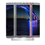Peace Bridge 01 Triptych Series Shower Curtain