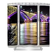 Peace Bridge 02 Triptych Series Shower Curtain